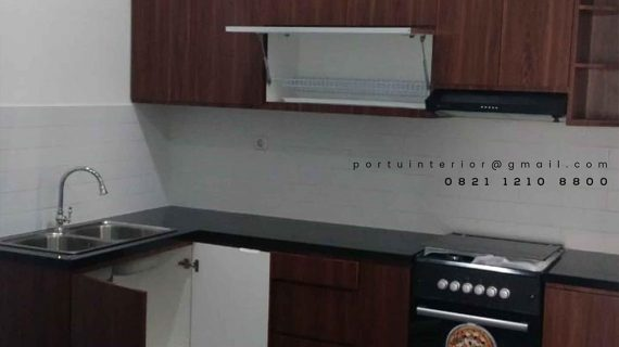 Jual Kitchen Set Murah Motif Kayu Perumahan Bukit Nusa Indah Serua Ciputat id3535p