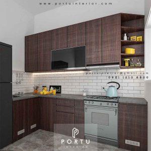 Kitchen Set Murah Motif Kayu Perumahan Bukit Nusa Indah Serua Ciputat id3535p