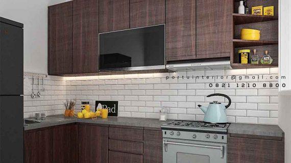 Kitchen Set Murah Motif Kayu Perumahan Bukit Nusa Indah Serua Ciputat
