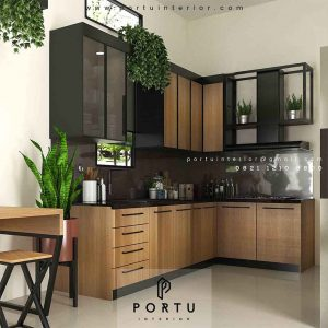 Buat Kitchen Set Finishing HPL Motif Kayu Royal Palm Taman Surya Cengkareng Jakarta id 4517pt