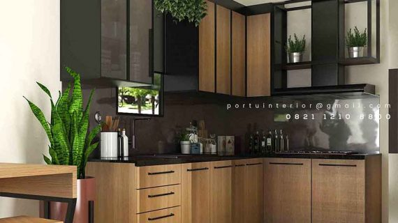 Buat Kitchen Set Finishing HPL Motif Kayu Royal Palm Taman Surya Cengkareng Jakarta