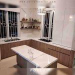 Kitchen Set HPL Finishing HPL Motif Kayu Tebet Timur Jakarta