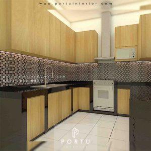 Kitchen Set HPL Motif Kayu Perumahan Griya Loka Bsd Serpong Tangerang id4609p