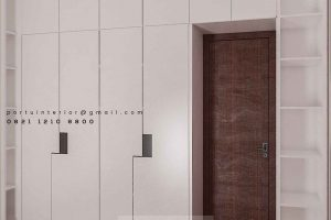 Lemari Pakaian Pintu Swing Warna Putih Project Sasak Tinggi Kedaung Pamulang id4045P