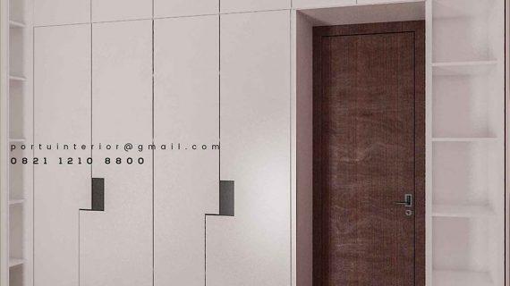Lemari Pakaian Pintu Swing Warna Putih Project Sasak Tinggi Kedaung Pamulang