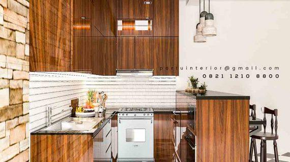Pembuatan Kitchen Set & Meja Bar minimalis finishing HPL
