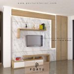 Harga backdrop Tv Per Meter Desain Custom Paling Ekonomis
