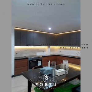 Jasa Kitchen Set Minimalis Motif Kayu & Warna Grey Jelambar Grogol Petamburan Jakarta Id4727P