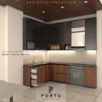 Kitchen Set HPL Motif Kayu & Warna Grey Premier Park Cikokol Tangerang