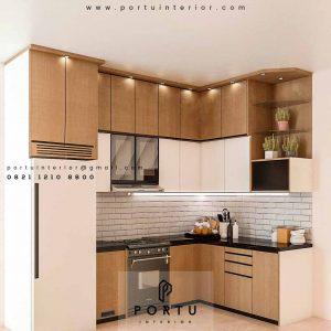 Kitchen Set Minimalis Kombinasi HPL Bintaro Sektor 4 Pondok Aren Tangerang Id4465P