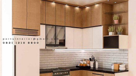 Kitchen Set Minimalis Kombinasi HPL Bintaro Sektor 4 Pondok Aren Tangerang