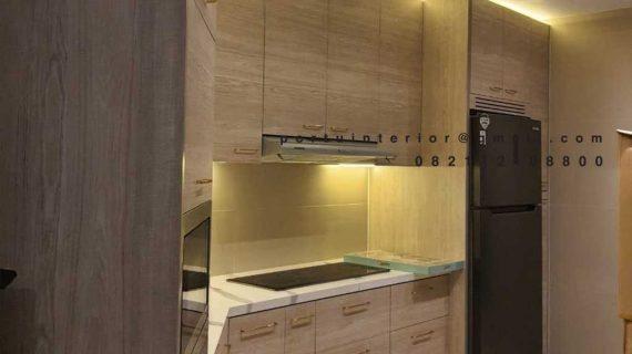 Buat Kitchen set Minimalis Motif Kayu Apartemen Fountain Park Pancoran Jakarta ID4634P