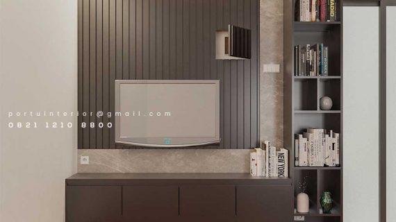 Harga Backdrop TV Minimalis Grey Perumahan Dukuh Bima Kota Legenda Tambun