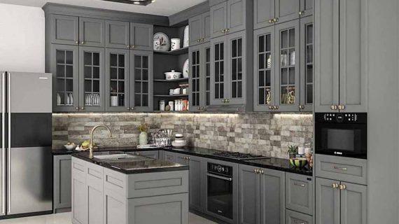 Kitchen Set Semi Klasik Dengan Beragam Model Cantik