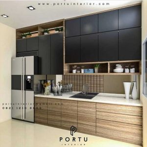 Model Lemari Dapur Minimalis Finishing HPL ID3449P