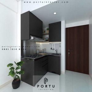 Bikin Kitchen Set Warna Grey Apartemen Emerald Bintaro Pondok Aren Tangerang Id4857