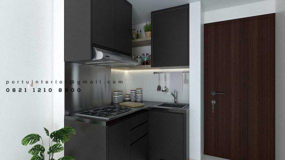 Bikin Kitchen Set Warna Grey Apartemen Emerald Bintaro Pondok Aren Tangerang