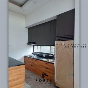 Buat Kitchen Set HPL Motif Kayu & Grey Cluster Lotus Serpong Lagoon Setu Tangerang Id4582T