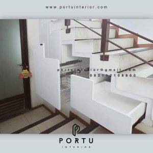 Harga Lemari Bawah Tangga Minimalis Putih Srengseng Kembangan Jakarta Id4218