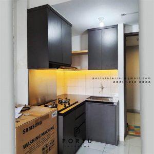 Jasa Bikin Kitchen Set Warna Grey Apartemen Emerald Bintaro Pondok Aren Tangerang Id4857