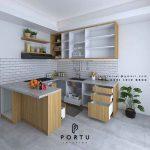 Jasa Pembuatan Kitchen Set Motif Kayu Kencana loka 2 extension Serpong Tangerang
