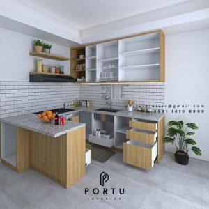 Jasa Pembuatan Kitchen Set Motif Kayu Kencana loka 2 extension Serpong Tangerang ID4867T
