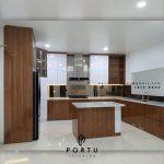 Kitchen Set Minimalis Modern Motif Kayu & Grey Perumahan Taman Bona Indah Lebak Bulus Cilandak