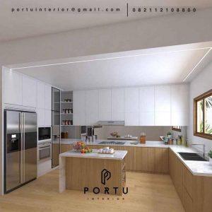 Kitchen Set Minimalis Modern Motif Kayu & Grey Perumahan Taman Bona Indah Lebak Bulus Cilandak Jakarta Id4768PT