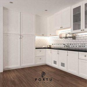 Kitchen Set Semi Klasik Putih Kompleks Billy Moon Duren Sawit Jakarta Id4920PT