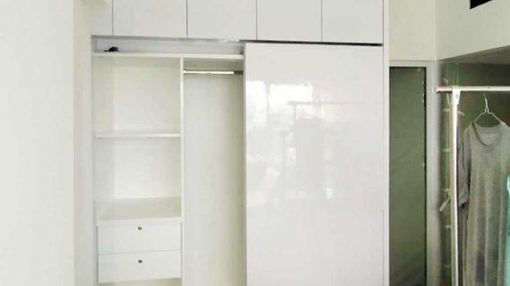 Lemari pakaian Sliding Putih Apartemen Marbella Kemang Residence Mampang Prapatan Jakarta Id4774P