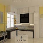 Gambar Kitchen Set Minimalis Putih H Hasan Baru Pasar Rebo Jakarta