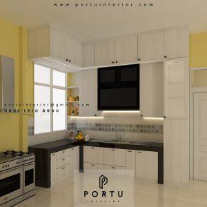 Gambar Kitchen Set Minimalis Putih H Hasan Baru Pasar Rebo Jakarta ID4624PT