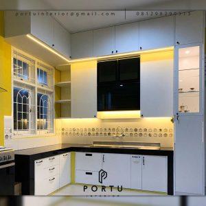 Gambar Kitchen Set Minimalis Putih H Hasan Baru Pasar Rebo Jakarta Timur ID4624PT