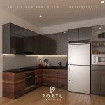 Harga Kitchen Set Per Meter Motif kayu & Grey Perumahan Kalibata Timur Residence Pancoran