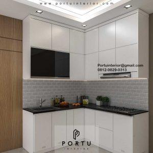 Kitchen Set Design Minimalis Putih Perumahan Villa Rizki Ilhami Kelapa Dua Tangerang Id4823