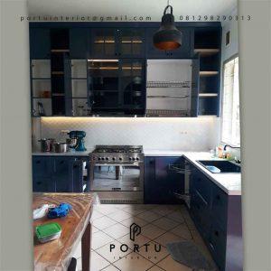 Kitchen Set Semi Klasik Duco Navy Tegal Rotan Sawah Baru Ciputat Tangerang Selatan ID4935PT