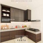 Kitchen Set HPL Motif kayu & Grey Cluster Dhana Suvarna Jati Sindang Jaya Tangerang