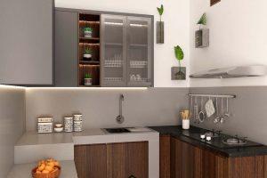 Model Kitchen Set Terbaru Motif Kayu & Grey Cipondoh Tangerang ID5087PT