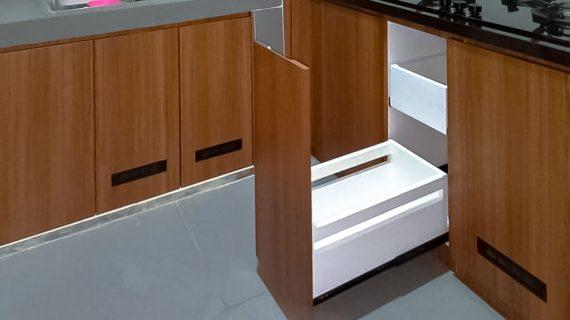 Model Kitchen Set Terbaru Motif Kayu & Grey Cipondoh Tangerang Selatan ID5087PT