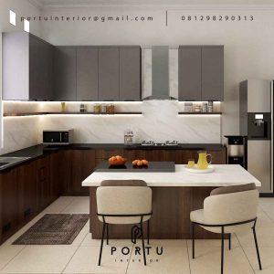 Jual Kitchen Set HPL Motif Kayu & Grey Perumahan Kayu Putih Pulo Gadung Jakarta ID5045P