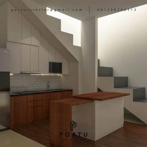 Kitchen Set Minimalis Modern Motif Kayu & Putih Cluster Gold G1 Serpong Park Serpong Utara ID3612