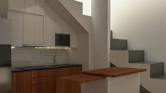 Kitchen Set Minimalis Modern Motif Kayu & Putih Cluster Gold G1 Serpong Park Serpong Utara