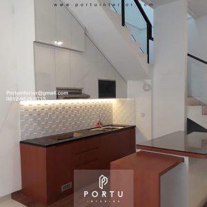 Kitchen Set Minimalis Modern Motif Kayu & Putih Cluster Gold G1 Serpong Park Serpong Utara Tangerang ID3612