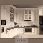 Design Kitchen Set Semi Klasik Putih Kampung Parung Cikasungka Solear Tangerang