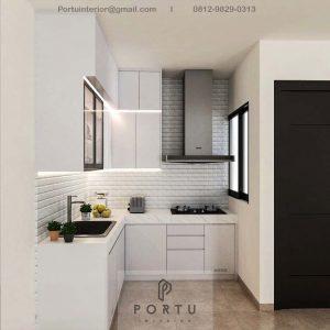 Kitchen Set Minimalis Putih Glossy Perumahan Vanya Park BSD Pagedangan Tangerang ID4801P