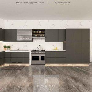 Jasa Kitchen Set Minimalis Grey Karang Tanjung Pandeglang Banten ID4972P