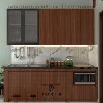 Jual Kitchen Set Minimalis Motif Kayu Komplek Metro Permata Karang Tengah Tangerang