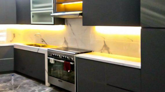 Melayani Jasa Kitchen Set Minimalis Grey Karang Tanjung Pandeglang Banten ID4972P
